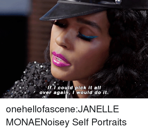 Target, Tumblr, and Janelle Monae: B If i could pick it all  over again, I would do it. onehellofascene:JANELLE MONAENoisey Self Portraits