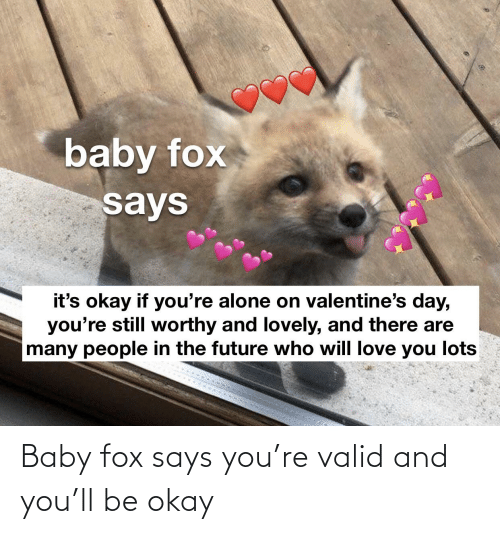 Says You: Baby fox says you're valid and you'll be okay