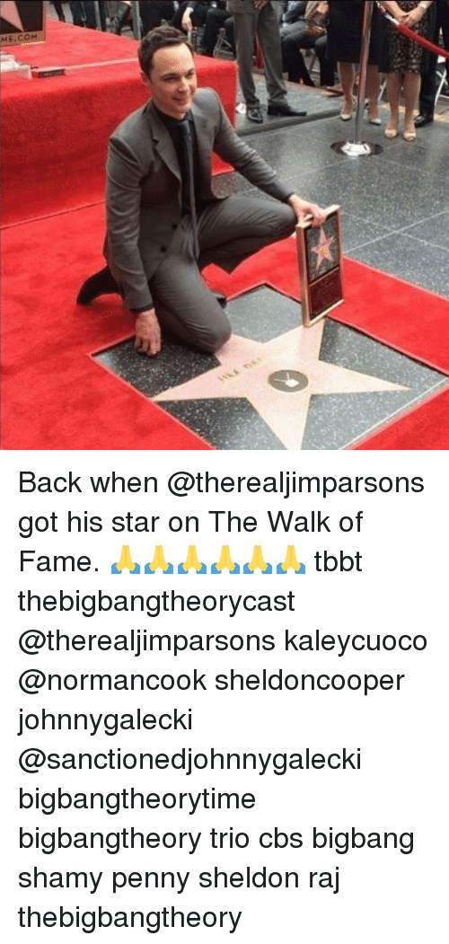 Memes, Cbs, and Star: Back when @therealjimparsons got his star on The Walk of Fame. 🙏🙏🙏🙏🙏🙏 tbbt thebigbangtheorycast @therealjimparsons kaleycuoco @normancook sheldoncooper johnnygalecki @sanctionedjohnnygalecki bigbangtheorytime bigbangtheory trio cbs bigbang shamy penny sheldon raj thebigbangtheory