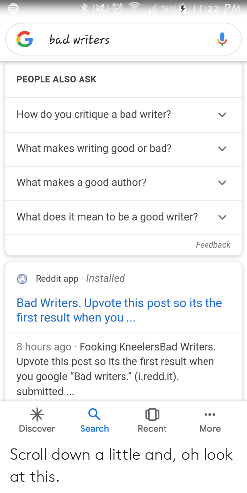Bad Writers PEOPLE ALSO ASK How Do You Critique a Bad Writer