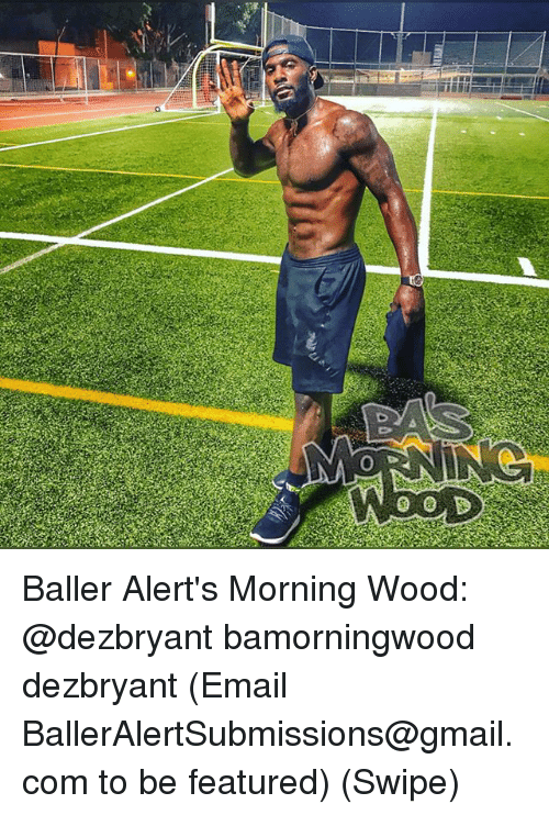Memes, Email, and Gmail: Baller Alert's Morning Wood: @dezbryant bamorningwood dezbryant (Email BallerAlertSubmissions@gmail.com to be featured) (Swipe)