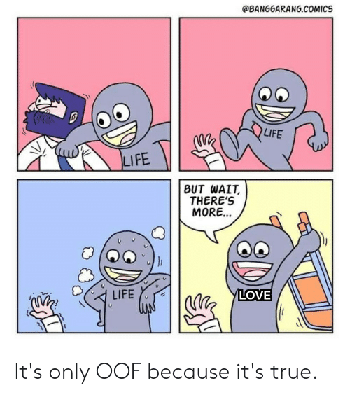 LIFE LIFE BUT WAIT THERE'S MORE LOVE LIFE It's Only OOF