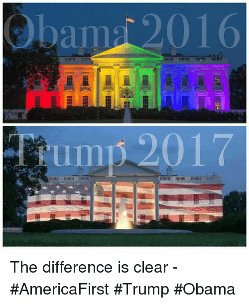 baps: bap 2016 The difference is clear - #AmericaFirst #Trump #Obama