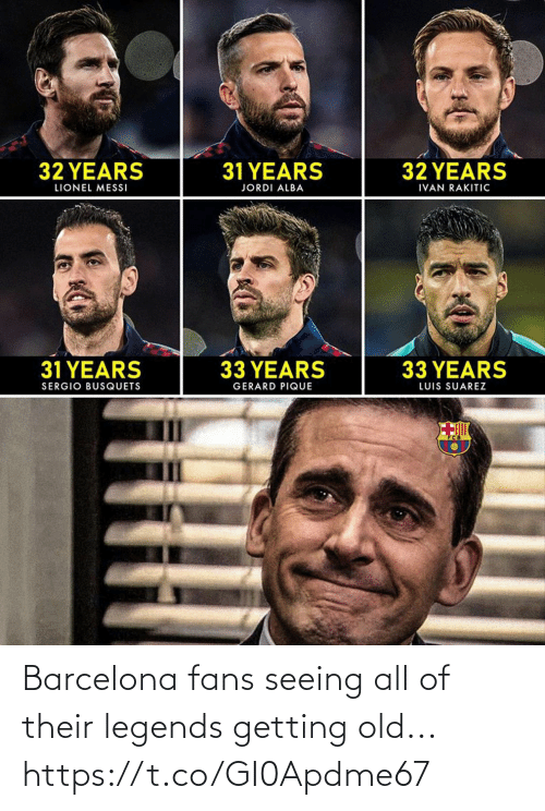 Barcelona, Soccer, and Old: Barcelona fans seeing all of their legends getting old... https://t.co/GI0Apdme67