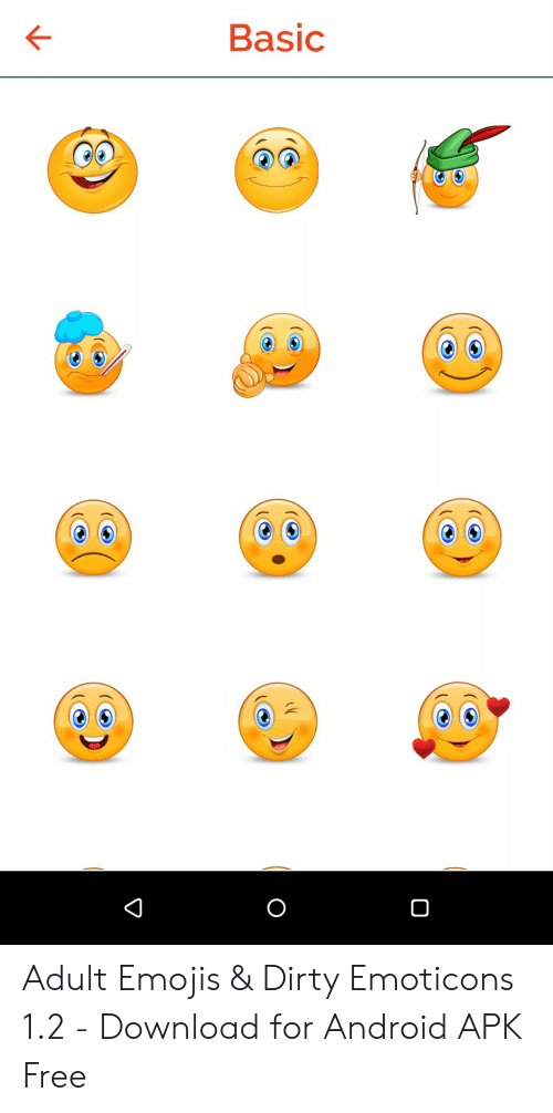 Basic Adult Emojis & Dirty Emoticons 12 - Download for
