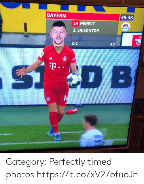 Category: BAYERN  49:38  14 PERISIC  EA  SPORTS  3. SAISONTOR  0:1  49'  S DB  T.  14 Category: Perfectly timed photos https://t.co/xV27ofuoJh