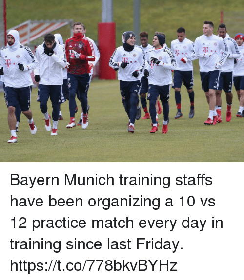 Organizing: Bayern Munich training staffs have been organizing a 10 vs 12 practice match every day in training since last Friday. https://t.co/778bkvBYHz