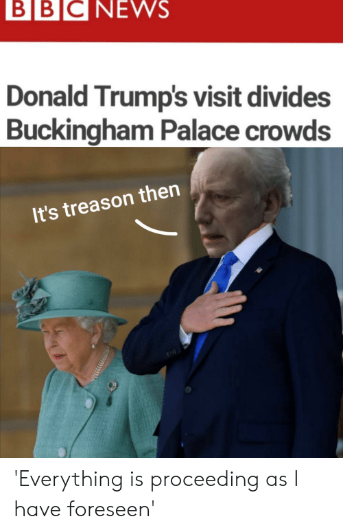 BBCNEWS Donald Trump's Visit Divides Buckingham Palace Crowds It's