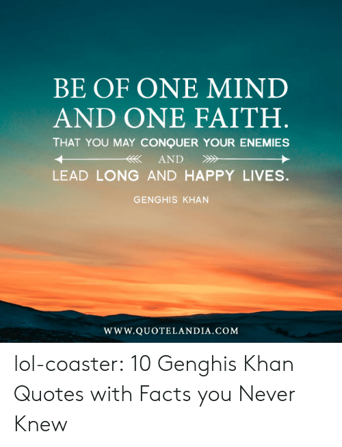 Be Of One Mind And One Faith That You May Conquer Your