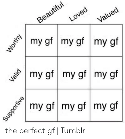 The perfect gf