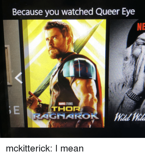 Tumblr, Blog, and Mean: Because you watched Queer Eye  NE mckitterick: I mean