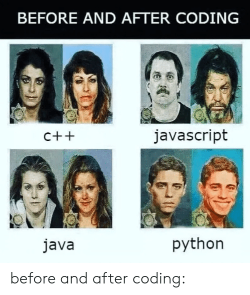 Java: BEFORE AND AFTER CODING  javascript  C++  python  java before and after coding: