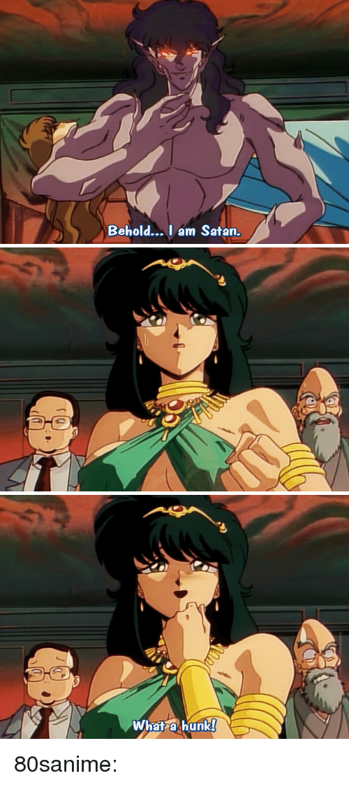 Tumblr, Blog, and Satan: Behold...Iam Satan.   What a hunk 80sanime: