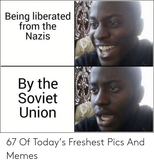 Memes, Today, and Soviet: Being liberated  from the  NaziS  By the  Soviet  Union 67 Of Today's Freshest Pics And Memes