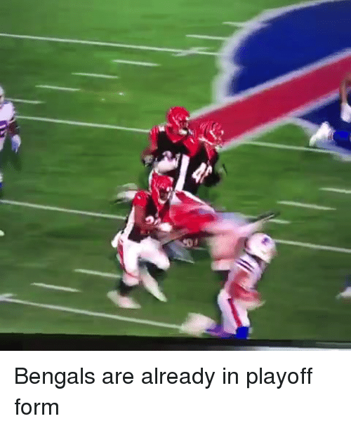 Nfl, Bengals, and  Already: Bengals are already in playoff form