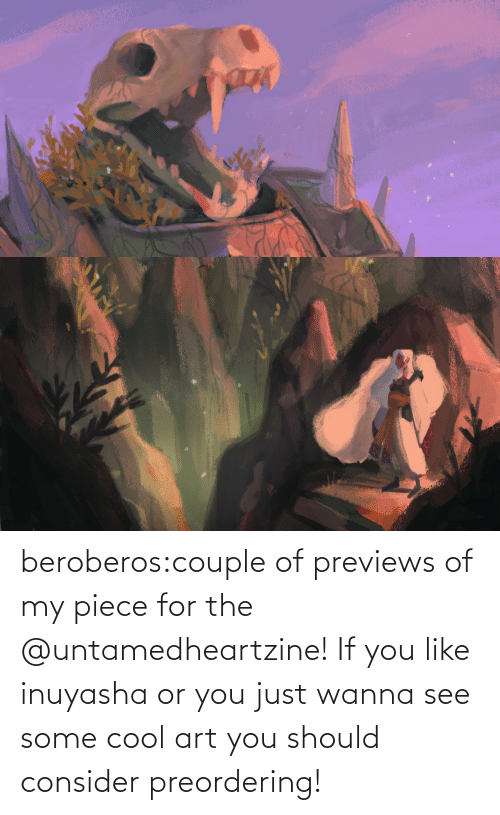 product: beroberos:couple of previews of my piece for the @untamedheartzine! If you like inuyasha or you just wanna see some cool art you should consider preordering!