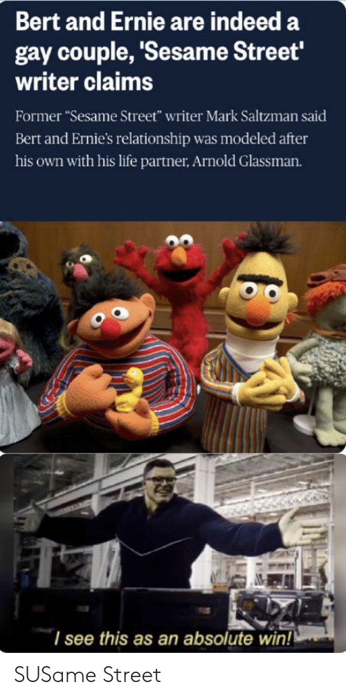 Bert And Ernie Are Indeed A Gay Couple Sesame Street