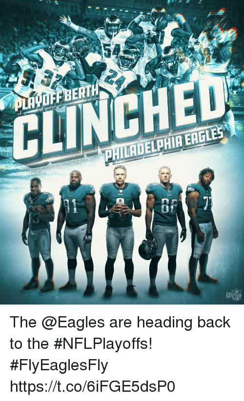 Philadelphia Eagles, Memes, and Nfl: BERT  CLINCH  PHILADELPHIA EAGLES  07  NFL The @Eagles are heading back to the #NFLPlayoffs! #FlyEaglesFly https://t.co/6iFGE5dsP0