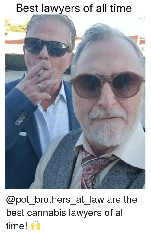 Weed, Best, and Marijuana: Best lawyers of all time @pot_brothers_at_law are the best cannabis lawyers of all time! 🙌