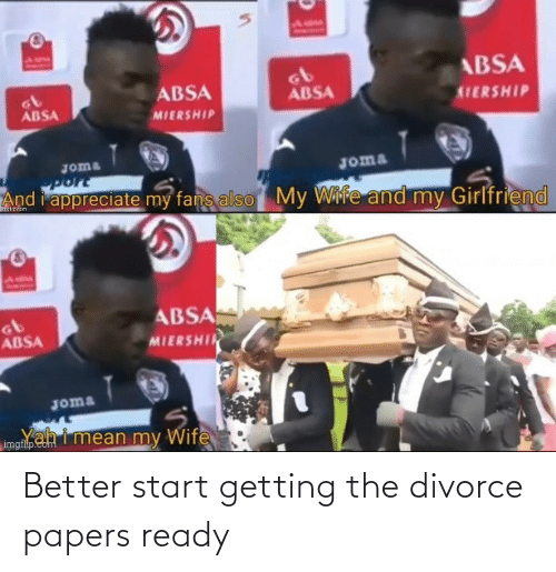 Divorce: Better start getting the divorce papers ready