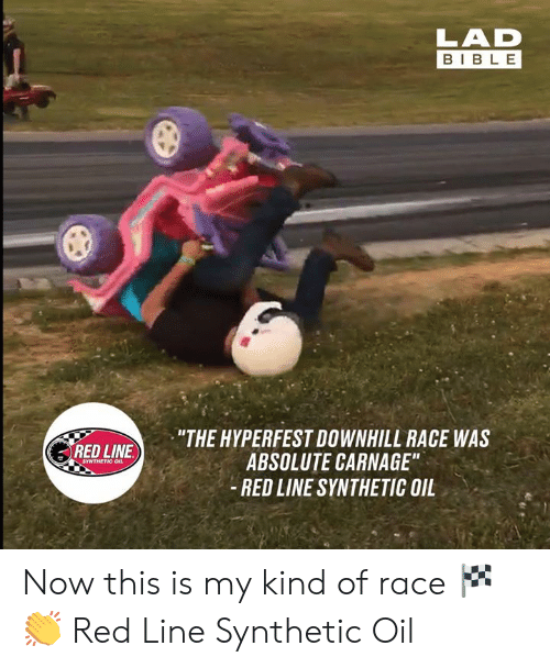 """Downhill: BIBLE  """"THE HYPERFEST DOWNHILL RACE WAS  ABSOLUTE CARNAGE""""  - RED LINE SYNTHETIC OIL  RED LINE  SYNTHETIC OIL Now this is my kind of race 🏁👏  Red Line Synthetic Oil"""