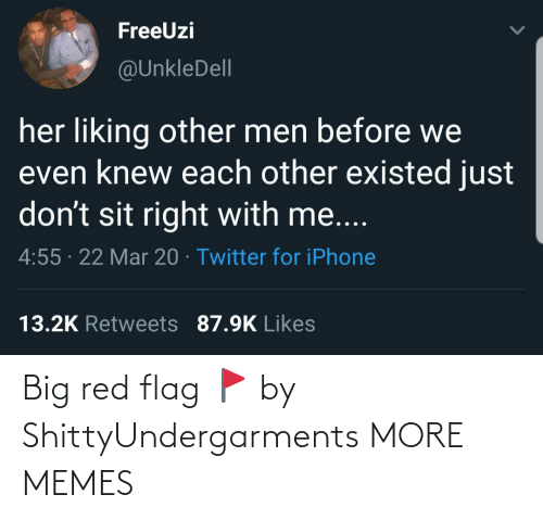 big: Big red flag 🚩 by ShittyUndergarments MORE MEMES