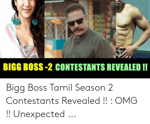 Bigg Boss Tamil Vote Season 2 Contestants List