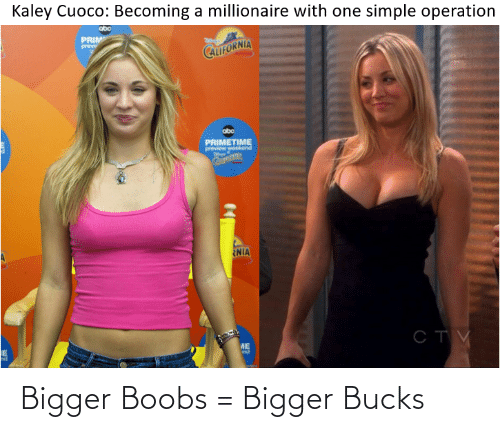 Bigger: Bigger Boobs = Bigger Bucks