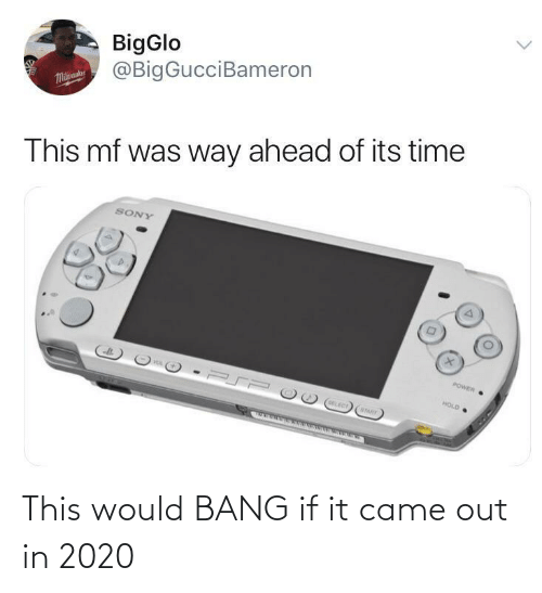 hold: BigGlo  @BigGucciBameron  Malaue  This mf was way ahead of its time  SONY  POWER  HOLD  OELECT  STARY This would BANG if it came out in 2020