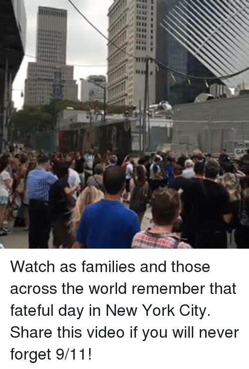 Big E: BilN  Iiia  1118  Big E Watch as families and those across the world remember that fateful day in New York City. Share this video if you will never forget 9/11!