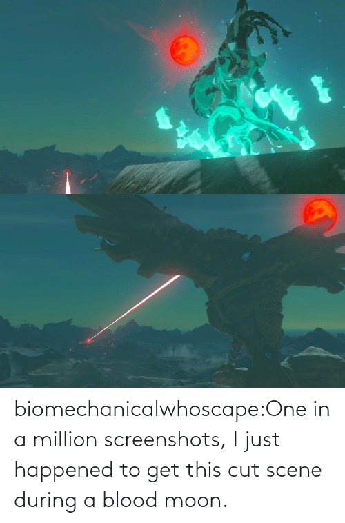 blood: biomechanicalwhoscape:One in a million screenshots, I just happened to get this cut scene during a blood moon.