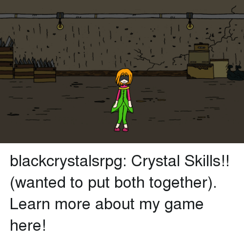 Tumblr, Black, and Blog: blackcrystalsrpg: Crystal Skills!! (wanted to put both together). Learn more about my game here!