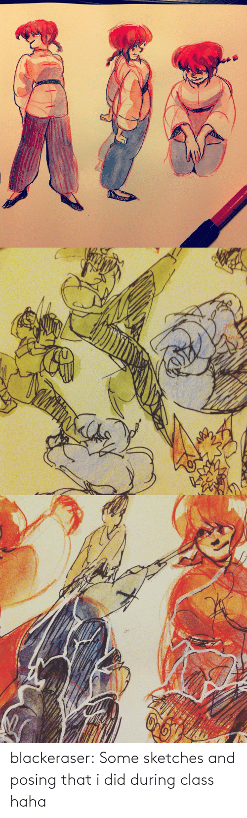 did: blackeraser:  Some sketches and posing that i did during class haha