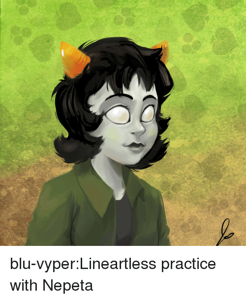 Target, Tumblr, and Blog: blu-vyper:Lineartless practice with Nepeta