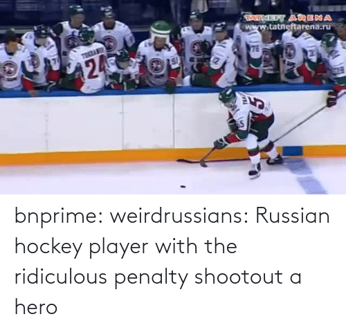 Hockey: bnprime: weirdrussians:   Russian hockey player with the ridiculous penalty shootout    a hero
