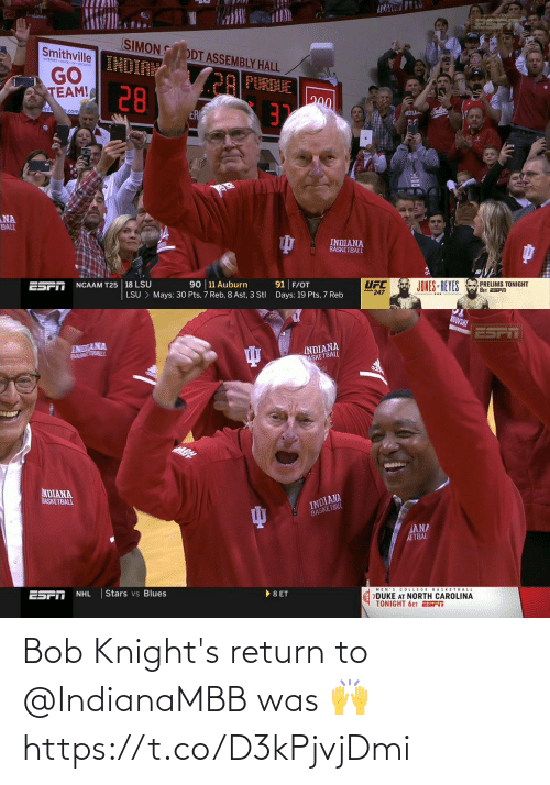 Return: Bob Knight's return to @IndianaMBB was 🙌 https://t.co/D3kPjvjDmi