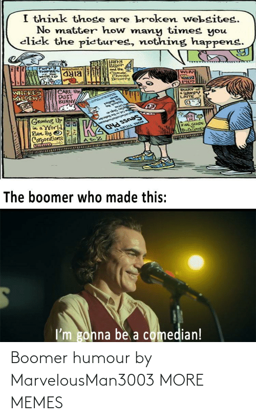 boomer: Boomer humour by MarvelousMan3003 MORE MEMES