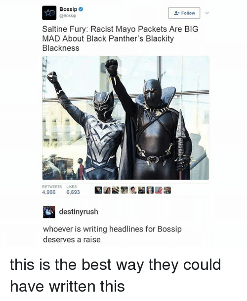 """Black Panthers: Bossip  @Bossip  """" Follow 