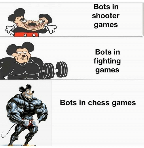 Chess: Bots in  shooter  games  Bots in  fighting  games  Bots in chess games