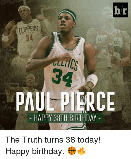 Birthday Paul Pierce And Sports Br ALLTI PAUL PIERCE HAPPY 38TH BIRTHDAY The