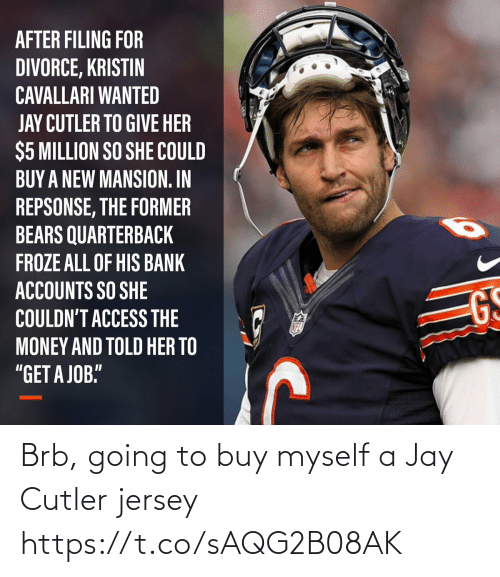 Buy: Brb, going to buy myself a Jay Cutler jersey https://t.co/sAQG2B08AK