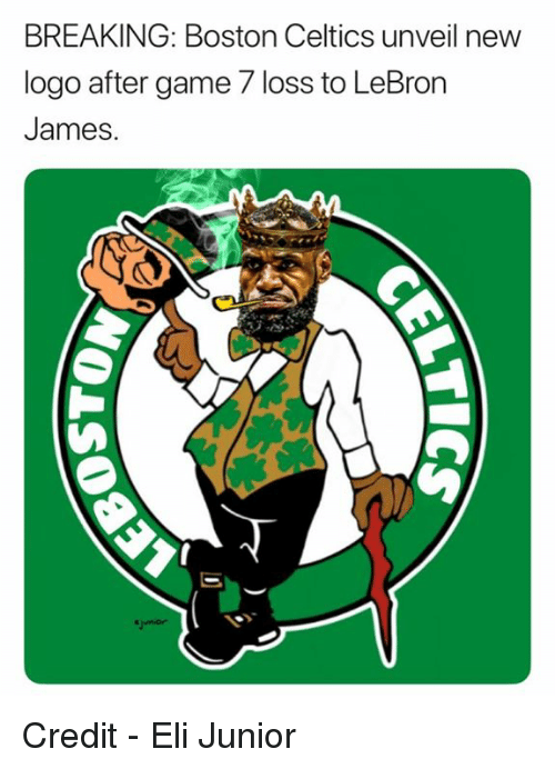 Boston Celtics: BREAKING: Boston Celtics unveil new  logo after game 7 loss to LeBron  James. Credit - Eli Junior