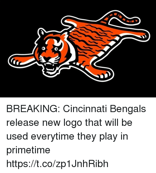 Cincinnati Bengals: BREAKING: Cincinnati Bengals release new logo that will be used everytime they play in primetime https://t.co/zp1JnhRibh