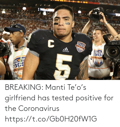 Coronavirus: BREAKING: Manti Te'o's girlfriend has tested positive for the Coronavirus https://t.co/Gb0H20fW1G