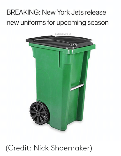 New York, New York Jets, and Nfl: BREAKING: New York Jets release  new uniforms for upcoming season  ONFLMEMES IG (Credit: Nick Shoemaker)