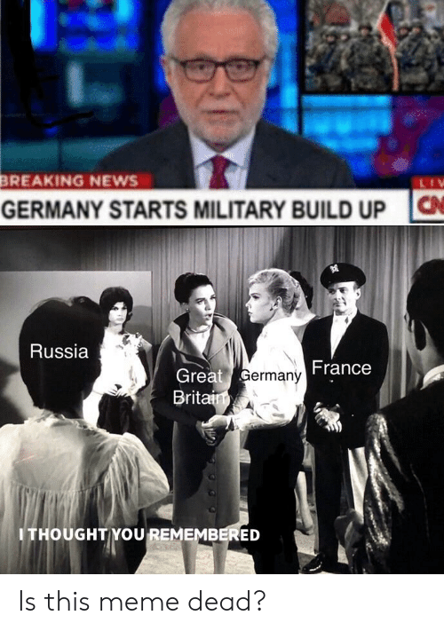 BREAKING NEWS C GERMANY STARTS MILITARY BUILD UP Russia France Great