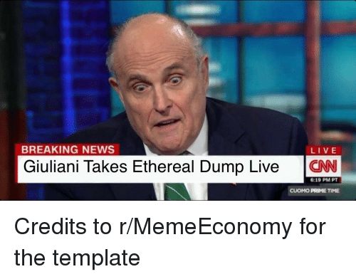 News Politics And Breaking BREAKING NEWS LIVE Giuliani Takes Ethereal Dump Live