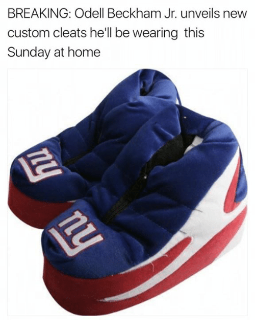 941af5f2047e Odell Beckham Jr., Home, and Sunday: BREAKING: Odell Beckham Jr. unveils  new custom cleats he'll be wearing this Sunday at home