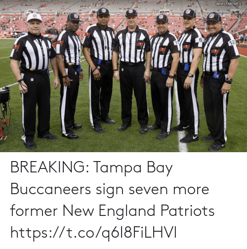 Patriotic: BREAKING: Tampa Bay Buccaneers sign seven more former New England Patriots https://t.co/q6I8FiLHVl