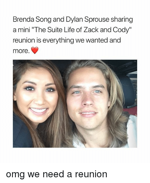 """suite life: Brenda Song and Dylan Sprouse sharing  a mini """"The Suite Life of Zack and Cody""""  reunion is everything we wanted and  more omg we need a reunion"""